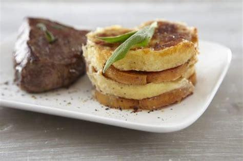 cuisiner la sauge recette gratin de quenelles nature et patate douce pavé
