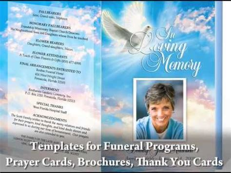 free funeral programs create beautiful funeral programs with funeral program