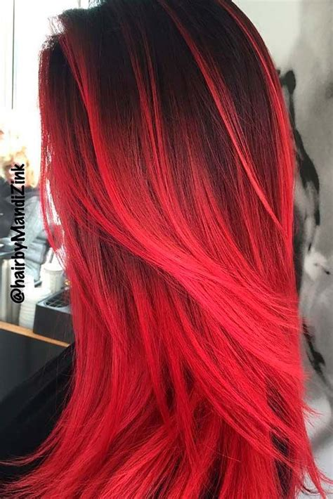 25 Beautiful Red Ombre Hair Hair Styles Red Ombre Hair