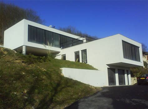 maison moderne terrain en pente plan maison moderne sur terrain en pente 1 plans maison architecture