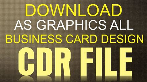 coreldraw  tutorial    business card cdr