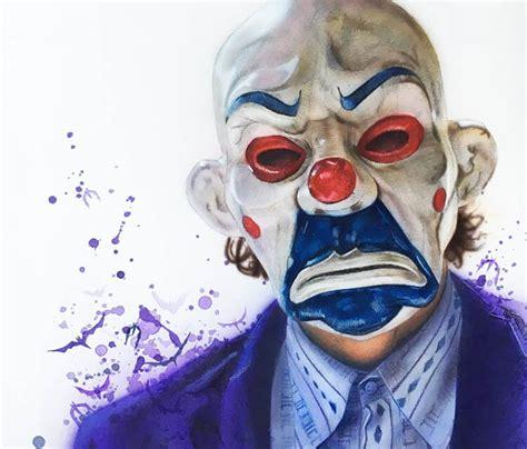 clown mask joker airbrush  jonathan knight art