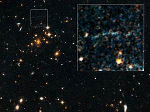 Warped Light Reveals Most Massive Distant Galaxy Cluster ...
