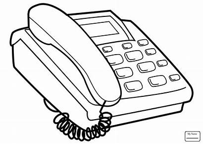 Telephone Coloring Phone Pages Drawing Cell Technology