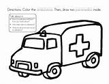 Ambulance Coloring Worksheet Sheet Lesson Curated Reviewed Lessonplanet sketch template