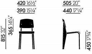 Dimension Chaise Standard : vitra chaise standard sp jean prouv ~ Melissatoandfro.com Idées de Décoration