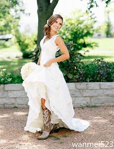 mermaid lace cap sleeve v neck lace bohemian style wedding With lace country wedding dresses