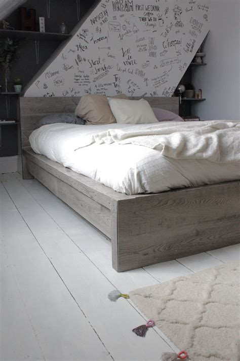 Malm Bed Hack by Ikea Hack Rustic Look For A Malm Bedframe Hester S