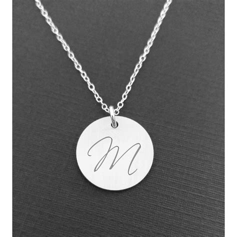 Personalised Initial Necklace - Sterling Silver