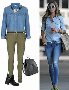 1 camisa denim Varias formas de usarla - MODA LISTA