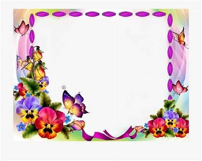 Butterfly Borders Frames Frame Clipart Cartoon Transparent