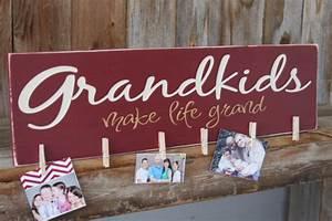 grandkids make life grand wood sign for hanging by invinyl With grandkids make life grand vinyl lettering