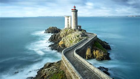 nature landscape sea water horizon france lighthouse