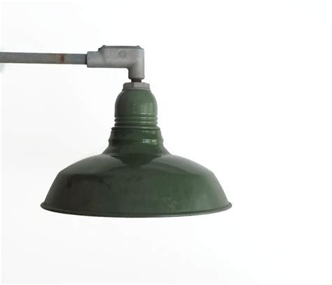 vintage enamel gooseneck barn light fixture elbowed barn