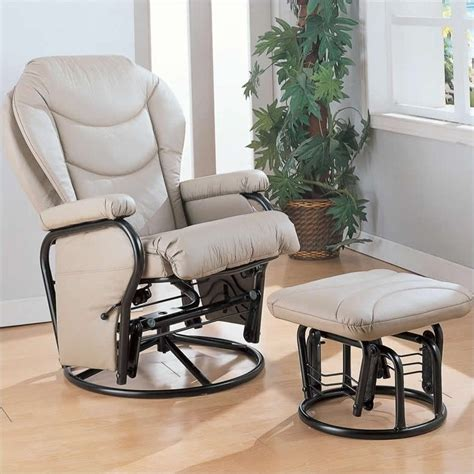 faux leather glider recliner with ottoman coaster faux leather recliner glider chair with ottoman in