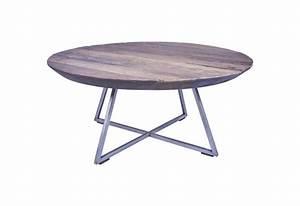 Table Basse Hauteur 60 Cm : table basse ronde bogor 60 cm en teck pour salon koh deco ~ Nature-et-papiers.com Idées de Décoration