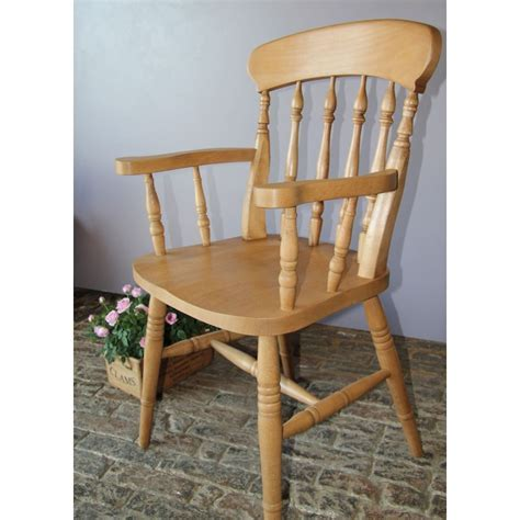 'Spindle Back' Beech Carver Chair