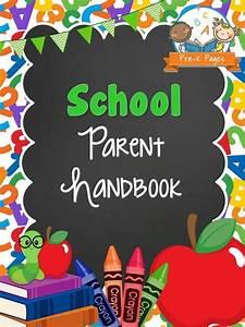 46 best school print materials images on pinterest With teacher handbook template