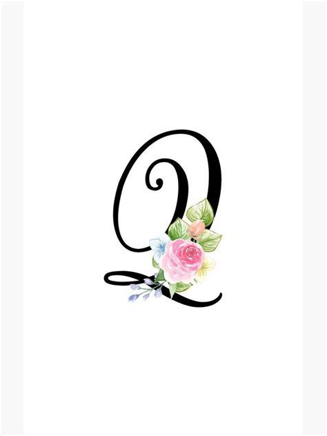 floral monogram fancy script letter  case skin  samsung galaxy  grafixmom redbubble