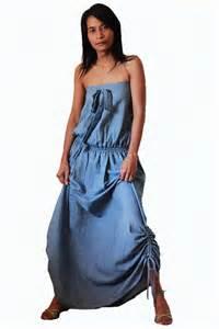 Long Denim Dresses Women