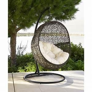 Fauteuil Cocon Suspendu : fauteuil suspendu de jardin en r sine tress e marron cocon maisons du monde ~ Melissatoandfro.com Idées de Décoration