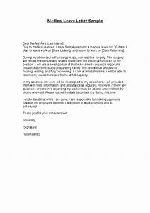 Medical Leave Letter Sample  Hashdoc