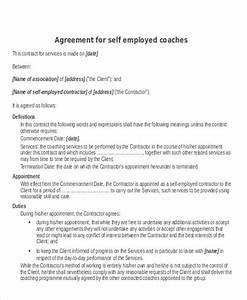 comfortable self employment contract template ideas With free self employed contract template