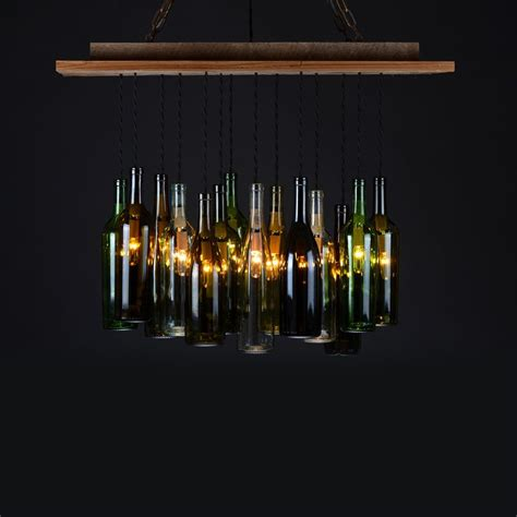 wine bottle chandelier architecture design gardens
