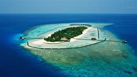 magnificent resort   tropical atoll wallpaper
