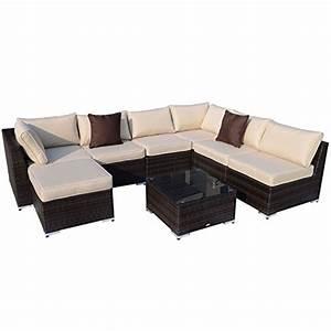 Polyrattan Sitzgruppe Braun : outsunny gartenm bel 25 teilig polyrattan sofa sitzgruppe ~ Watch28wear.com Haus und Dekorationen
