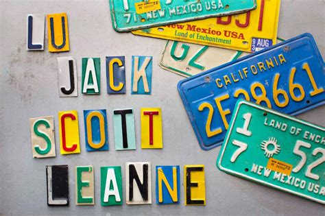 How To Make Magnets From Old License Plates