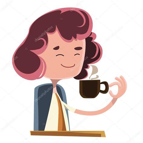 Dibujos: mujeres tomando cafe Personaje de dibujos