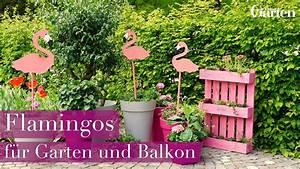 bastelanleitung deko flamingos fur garten und balkon With feuerstelle garten mit kommode für balkon