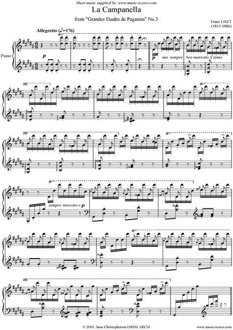la canella etude no 3 sheet music notes by franz