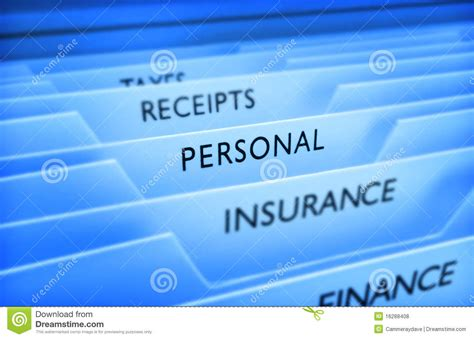 Personal Information File Data Stock Photo