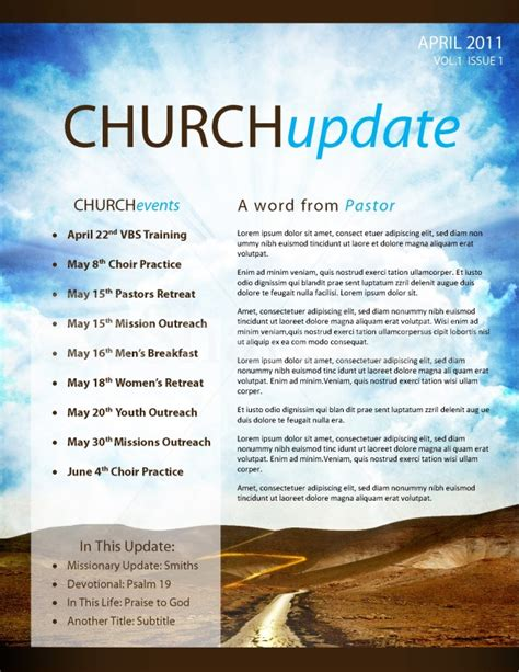 Pathway Church Newsletter Template Template Newsletter