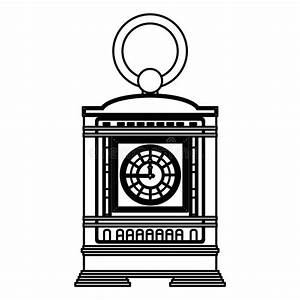 Mantel Clock Stock Vector  Illustration Of Wood