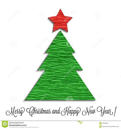 stilisierter weihnachtsbaum gemacht vom krepppapier