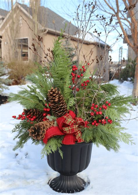 Christmas Decorations For Outside Planters Halloween