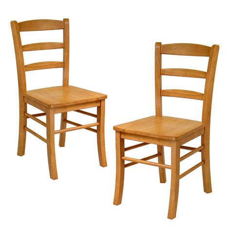 winsome wood 34232 ladder back dining chair set of