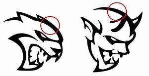 dodge hellcat demon logo design similarities heads logos With dodge demon concept