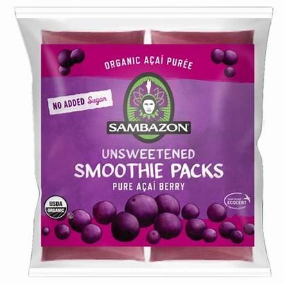 Acai Berry Smoothie Packs Frozen Sambazon Organic