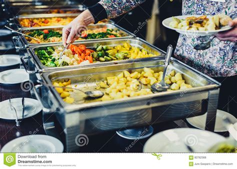 but buffet cuisine business catering take buffet food royalty free