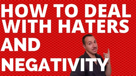 How To Deal With Haters And Negativity  Life Coach Lj Aviles