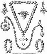 Jewelry Coloring Pages Bracelet Necklace Earrings Template Pearl Printable Getdrawings Nice Getcolorings Print Popular Colorin sketch template