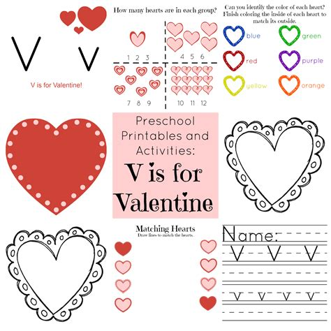 the of v is for preschool 741 | v is for valentine collage