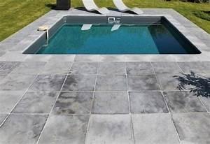 liner piscine la vie couleur desjoyaux With margelle piscine grise anthracite