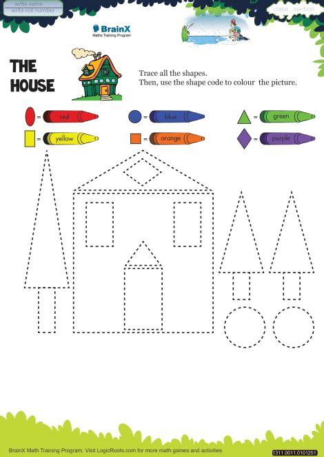 house math worksheet  kindergarten