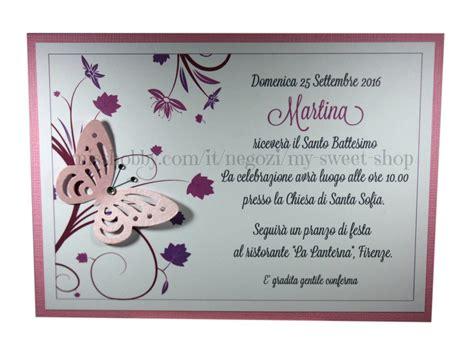 Testo Con Una Rosa by Invito Battesimo O Per Cerimonie E Feste Versione Rosa