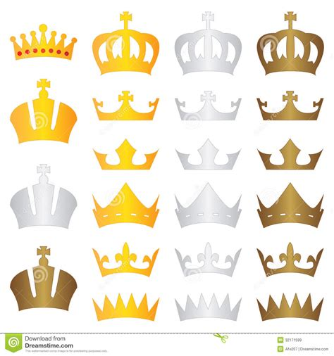 Gold King Crown Vector
